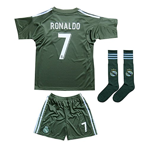 CR7 Christiano Ronaldo Kids Soccer Jersey Set - Ronaldo  7 Youth Jersey  Shirt + Shorts + CR7 Bag   Ultimate ... 2ba35f513