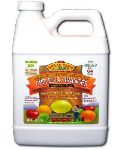 Urban Farm Fertilizers Apples & Oranges Fruits and Citrus Fertilizer, 1 quart (Best Organic Fertilizer For Apple Trees)