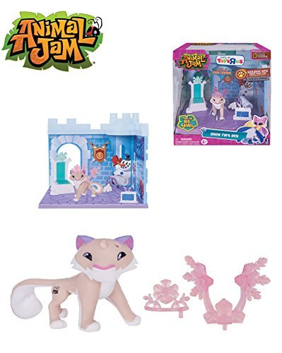 NEW! Exclusive Animal Jam - SNOW FORT DEN - Includes 3