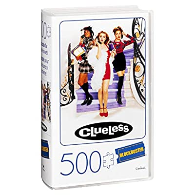 500-Piece Puzzle in Plastic Retro Blockbuster VHS Video Case, Clueless: Toys & Games