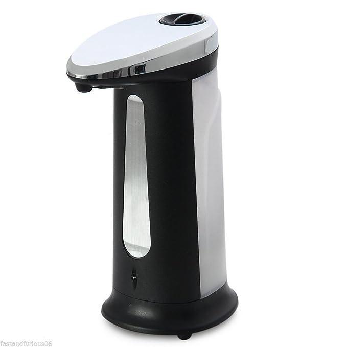 Dispensador de jabón automático de 400 ml, libre de manos, ABS resistente al agua, sensor de movimiento infrarrojos infrarrojos, sin contacto con el sistema ...