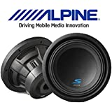 Alpine S-W10D4 S-Series 10 subwoofer with dual 4-ohm voice coils (1Pair)