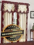 Gatton Danbury Embroidered Window Curtain Valance Treatments - Assorted Colors | Style WNDWSCURT-01120191 |
