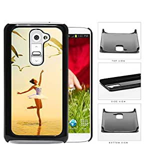 Ballerina Dancing With Pigeons Flying Hard Plastic Snap On Cell Phone Case LG G2