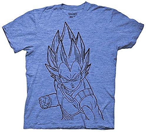 Dragonball Z Vegeta Line Art DBZ Anime Adult Shirt (XX-Large) Dragon Ball Z Fan Art