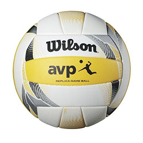 Team Beach Ball - Wilson AVP II Replica Beach Ball, Yellow/White