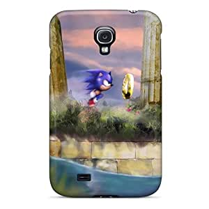 Scratch Protection Hard Phone Case For Samsung Galaxy S4 With Provide Private Custom Nice Sonic The Hedgehog Image JohnPrimeauMaurice