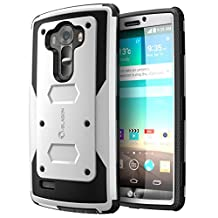 LG G4 Case, [Heave Duty][Slim Protection] i-Blason Armorbox [Dual Layer] Hybrid Full-body Protective Case with Front Cover and Built-in Screen Protector Resistant Bumpers Cover 2015 Release (White)