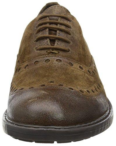 Zapatos Kapsian Hombre A Geox De Vestir Para ebony U Marrón F0ttUwq5x