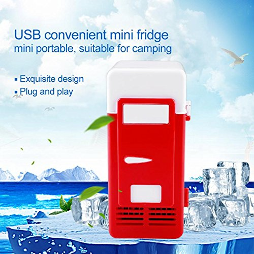 ERTIANANG LED Mini USB Refrigerator USB Refrigerator Drinks Beverage Cans Refrigerator and Heater for car office or home by ERTIANANG (Image #2)
