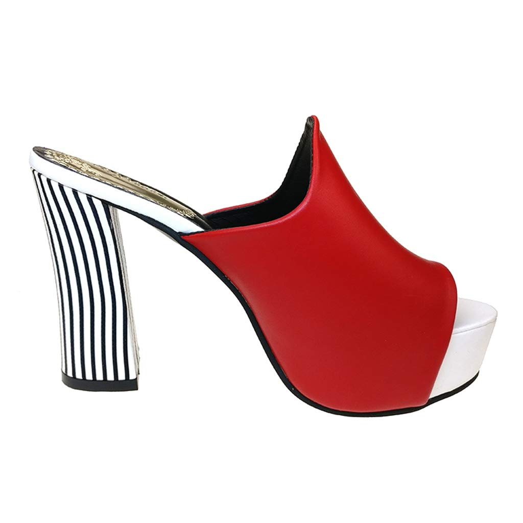 e64be0a220fac Amazon.com | Fay Waters Women Leather Wedges Sandals Square Heel ...