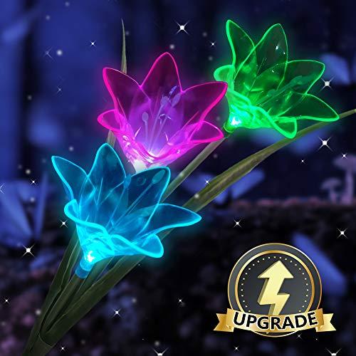 Viaidol Solar Flower Lights Outdoor Decorat Garden
