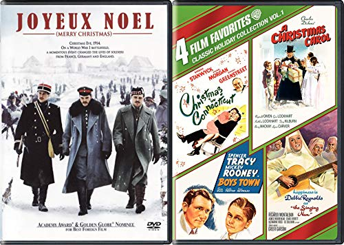 Carol Connecticut Boys Nun 5 Movie Holiday DVD Pack Boys Town / Hapiness is Debbie Reynolds Singing / Spencer Tracy Boys Town / Barbara Stanwyck / Charles Dickens + JOYEUX ()