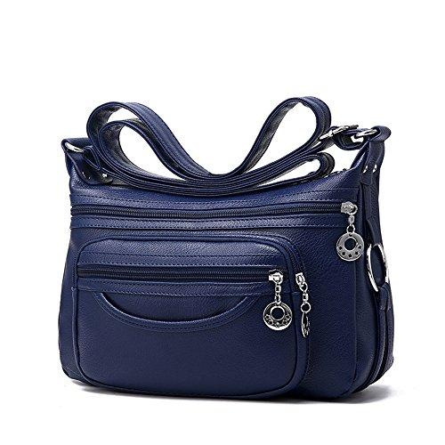 des Messenger sac paquet d'âge loisirs souple sac mère femmes Sac dark à sauvage Croix blue sac Messenger d'âge moyen DIUDIU moyen sac femmes bandoulière sac FBv0wtxqx