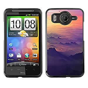 Qstar Arte & diseño plástico duro Fundas Cover Cubre Hard Case Cover para HTC Desire HD / G10 / inspire 4G( Sky Plane Sunset Mountains Plane Flying)