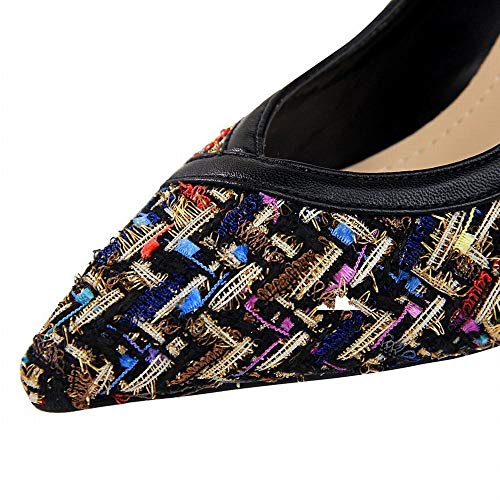 Pour Noire Pointus Chaussures Hauts Mince Talons Joyiyuan Talons à Sexy Ms À Hauts La La Période Couleur p6qOzWCfn