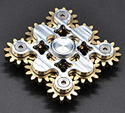 Inspirationc Hand Spinner Fidget Killing Time Toy for Kids and Adults for Anti-anxiety,ADHD Autism, Stress Reliece-Creative Personalized Cool Fun Wheel Stlye EDC Fidget Spinner Toy--Nine Silver Wheels