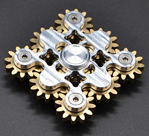 Price comparison product image Inspirationc Hand Spinner Fidget Killing Time Toy for Kids and Adults for Anti-anxiety, ADHD Autism,  Stress Reliece-Creative Personalized Cool Fun Wheel Stlye EDC Fidget Spinner Toy--Nine Silver Wheels
