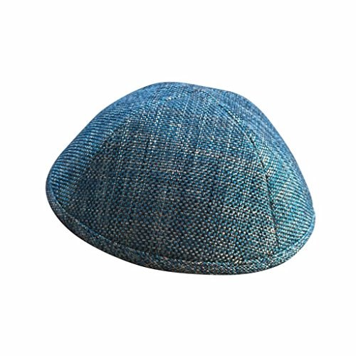 discount iKIPPAH Pattern Turquoise Metallic 7.75 inch Yarmulke on sale