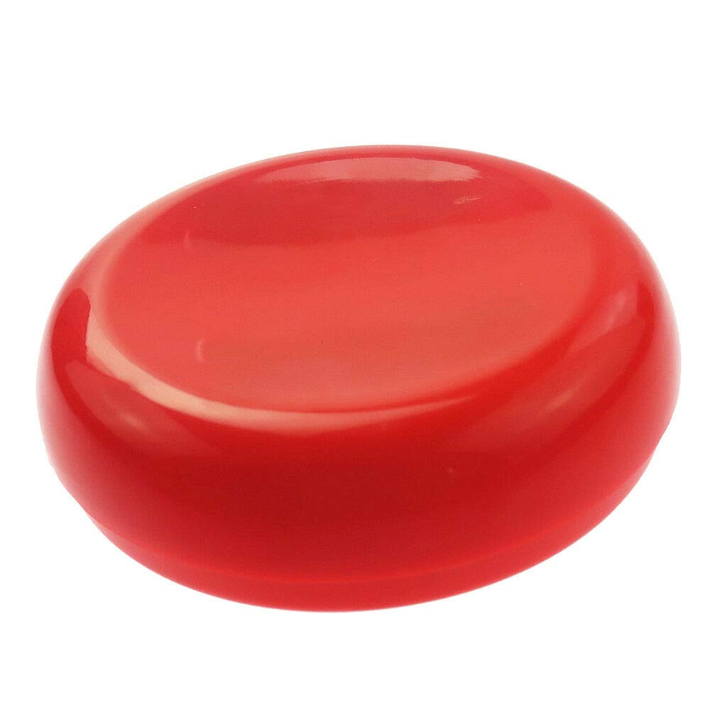 Color - Red Round Shaped Magnetic Needle Holder Pin Cushion Storage Box Sewing Accessories