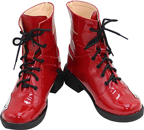 Whirl Cosplay Boots Shoes for Final Fantasy 7 Tifa Lockhart red