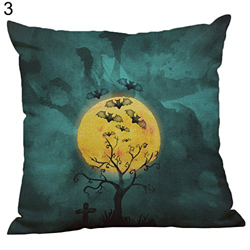 daffodilblob Halloween Pillow Case Cover, Halloween Linen Witch Pumpkin Cushion Cover Pillow Case Party Home Decor Gift 17.72