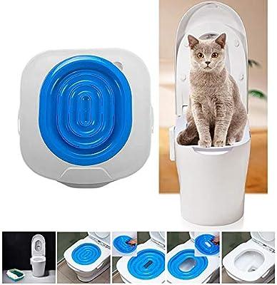 LONG-C Caja De Arena para Gatos De Plástico Gato Baño Entrenador ...
