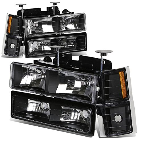(DNA Motoring HL-OH-8P-C1094-BK-AM Headlight Assembly)