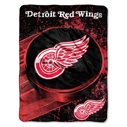 Detroit Red Wings Blanket - The Northwest Company NHL Detroit Red Wings Ice Dash Micro Raschel Throw, 46