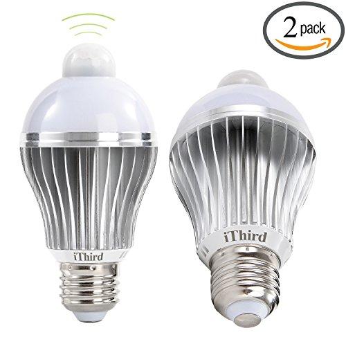 ithird e26 5w led motion sensor light bulbs pir infrared. Black Bedroom Furniture Sets. Home Design Ideas