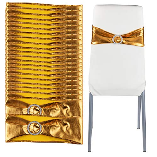 Juvale Gold Chair Sashes - 100-Pack Wedding Seat Bows, for sale  Delivered anywhere in USA