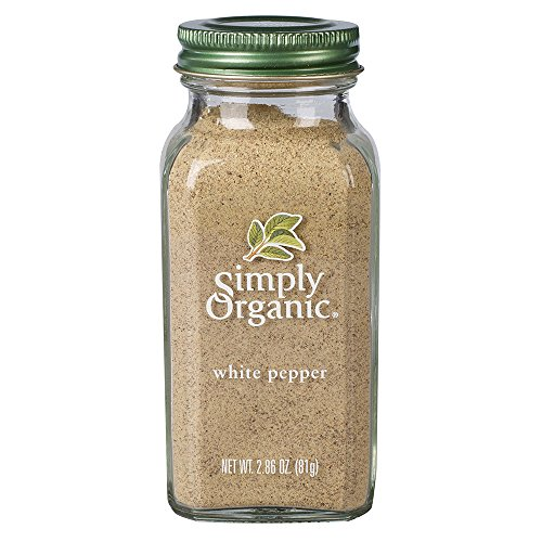 Simply Organic Pepper, White, 2.86 oz