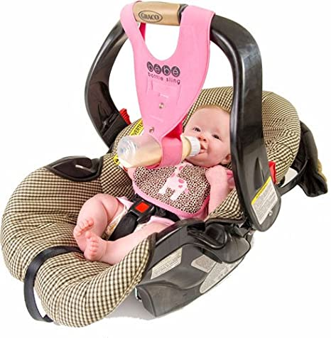 7a5da879d79 Amazon.com   Baby Bottle Holder for Hands Free Bottle Feeding by Bebe Bottle  Sling