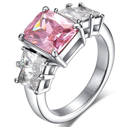 Swiss CZ Crystal Diamond Wedding Ring - 8