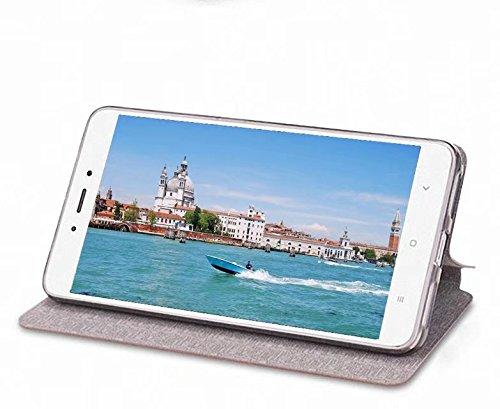 Funda para OnePlus 5T- bdeals Elegante monedero en Bookstyle Funda protectora de cuero PU para OnePlus 5T-Marrón Marrón