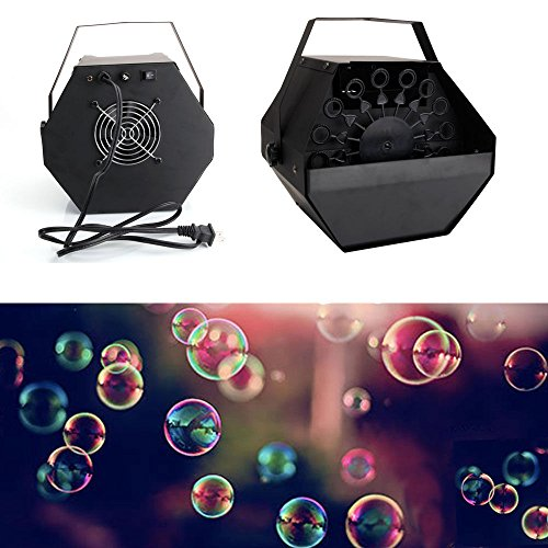 Bubble Maker Machine Kids Blower Fan Toy Outdoor Light Wand Bubbles Fun Up Party Performance Stage New Automatic Sound Play Toys