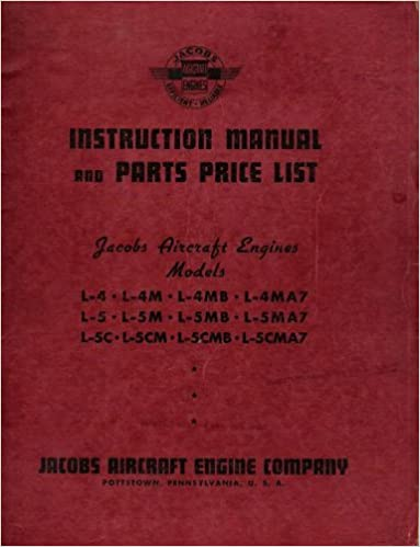 Instruction Manual and Parts Price List: Jacobs Aircraft Engines