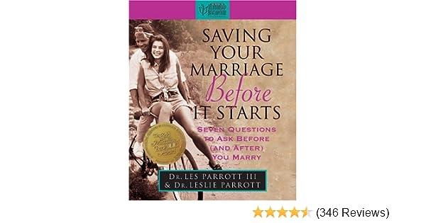 Saving Your Marriage Before It Starts (Inspirio/Zondervan Miniature Editions): Les Parrott, Leslie Parrott: 0048693421115: Amazon.com: Books
