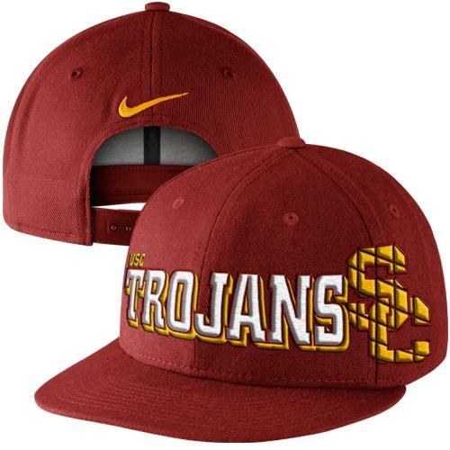 Nike USC Trojans NCAA Crimson Red Fan Snapback Cap Hat -