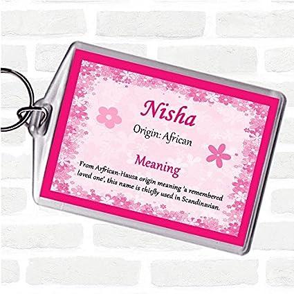 Nisha - Llavero con etiqueta con el nombre de la bolsa de ...