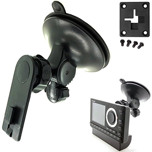 (AccessoryBasics XT Sticky-Dash Windshield Suction Mount for Sirius XM Onyx Plus Starmate Stratus Roady Helix Lynx Satellite Radio w/ Single T Delphi Skiff & 4 hole AMPS Pattern (SiriusXM) C)