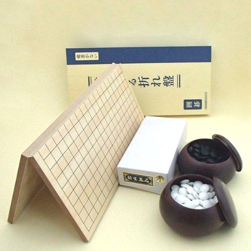 囲碁セット 棋になる折碁盤と銘木大碁笥と新生竹のセットの商品画像