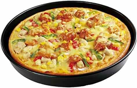 9 Inches Carbon Steel Metallic Professional Non-Stick Deep Dish Pizza Pan Tart Pan Round Tray Pie Pans