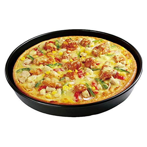9 Inches Carbon Steel Metallic Professional Non-Stick Deep Dish Pizza Pan Tart Pan Round Tray Pie Pans