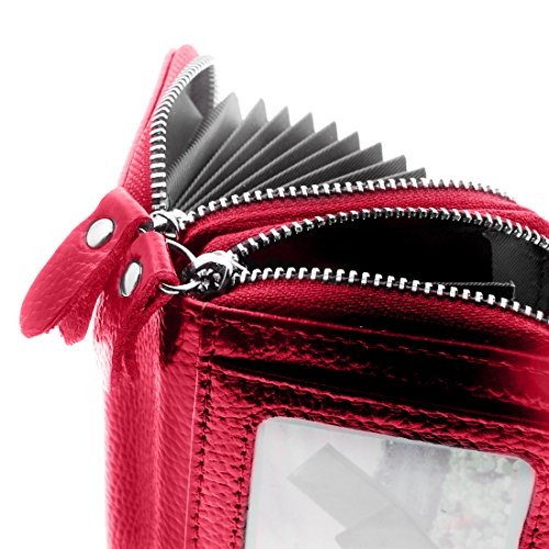 Womens Wallet Small double-zipper Wallet Mini Wallet Card Holder coin purse by QinFeng (Image #5)