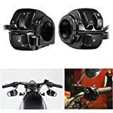 """KaTur 1 Pair Motorcycle 1"""" 25mm Handlebar Control Switch with Wiring Harness for Harley"""