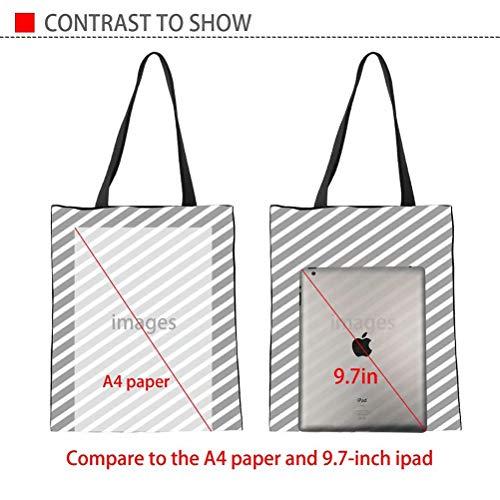 SANNOVO Dachshund Dog Canvas Tote Bag Grocery Shopping Bag Shoulder Bag for Girls Students by SANNOVO (Image #2)