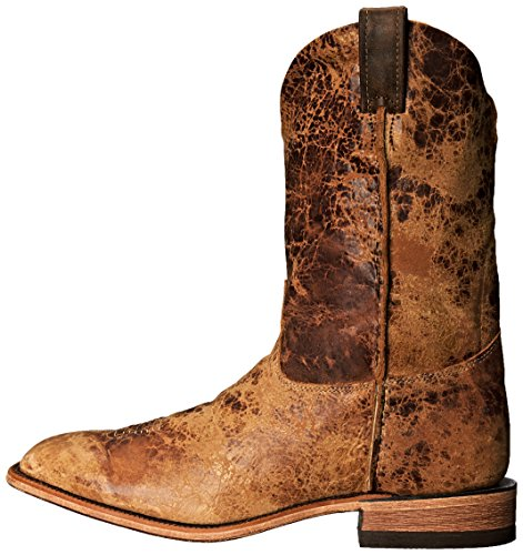 """Justin Boots Men's U.S.A. Bent Rail Collection 11"""" Boot Wide Square Double Stitch Toe Leather Outsole,Tan Road,11 D US"""
