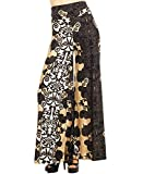Zoozie LA Women's Palazzo Pants Vines Champagne Black Gold S