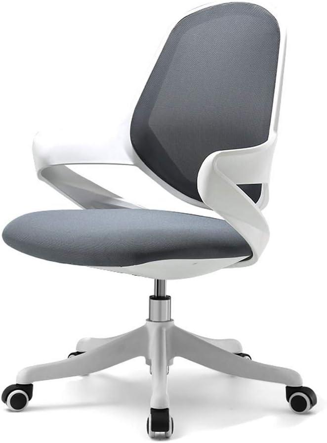 KOIUJ Silla de oficina Silla de escritorio de la computadora del juego a granel de negocios ergonómico media de la espalda del amortiguador de la ayuda lumbar con las ruedas cómodo asiento de malla qu